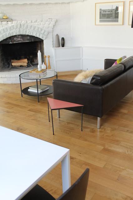 Beach Modern Meets Vintage modern-living-room