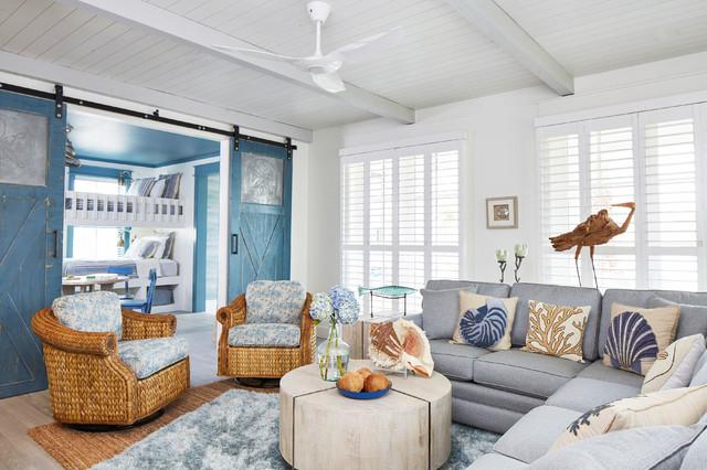 Beach Style Living Room - Maritim - Wohnbereich - Sonstige