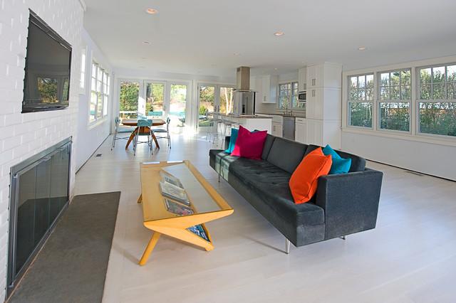 Modern Beach house beach-style-living-room