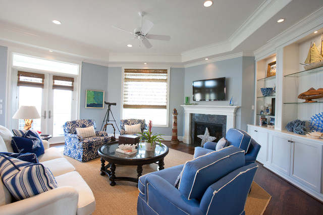 Beach Vacation Home Style Living Room Houston