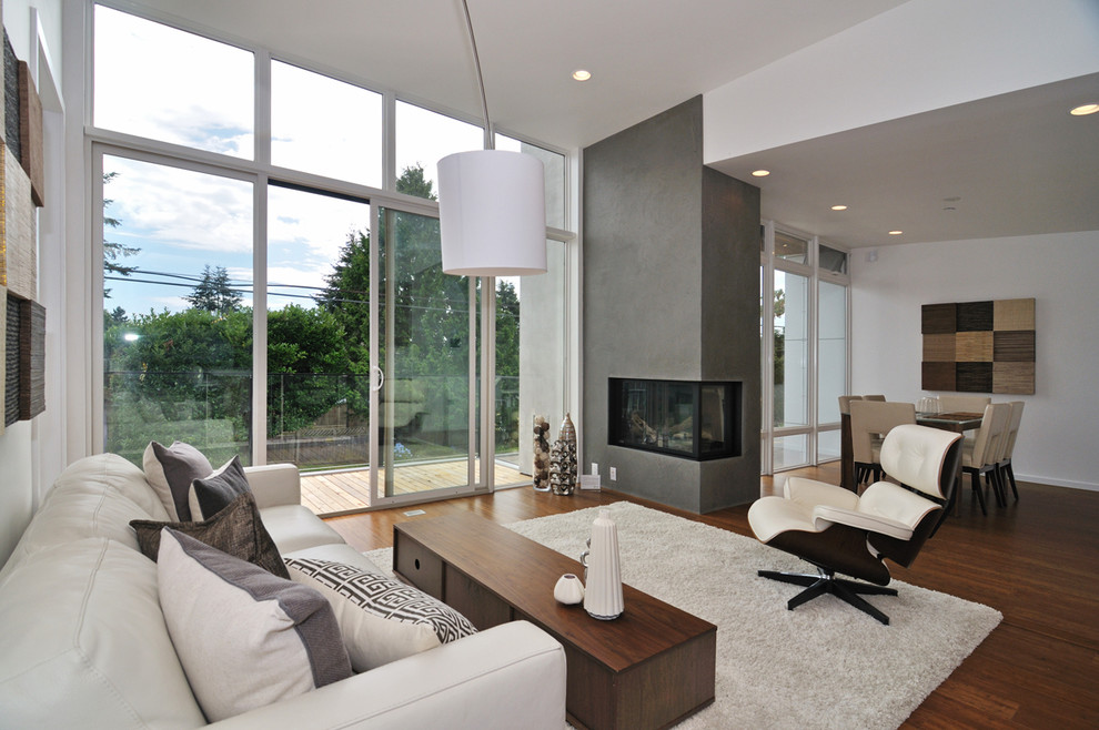 Inspiration for a modern living room remodel in Vancouver