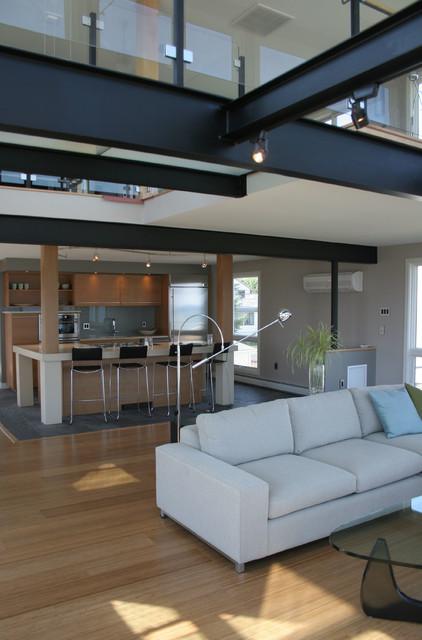 Beachfront contemporary remodel contemporary living for 02 salon portland maine