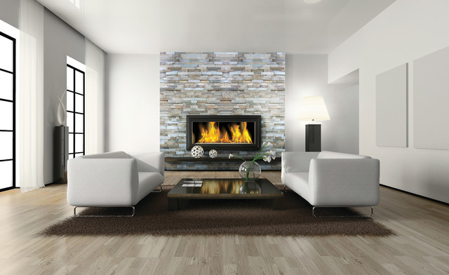 Beachwalk Stone Ledger Contemporary Living Room
