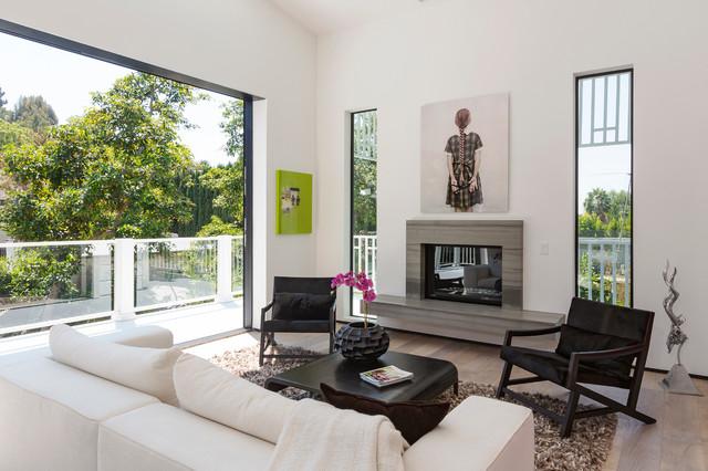 Beachwood Drive Residence contemporary-living-room