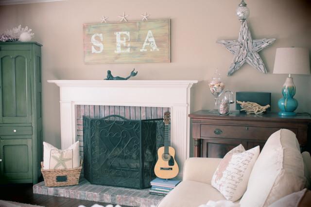 Beachy Family Room Beach Style Living Room St Louis