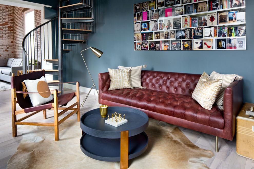 Beacon Factory Loft - Library - Contemporary - Living Room ...
