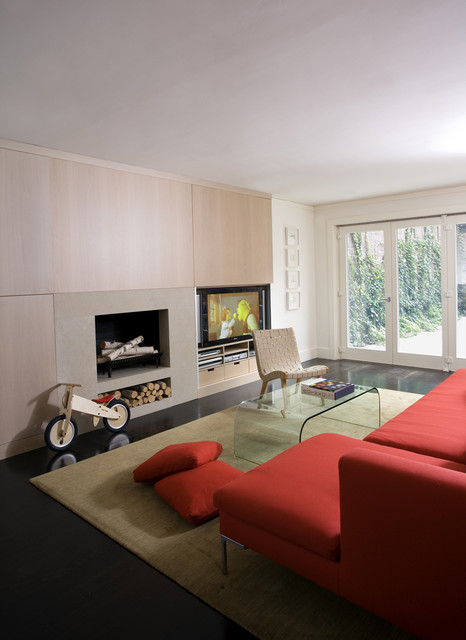 Beacon Hill Townhouse modern living room