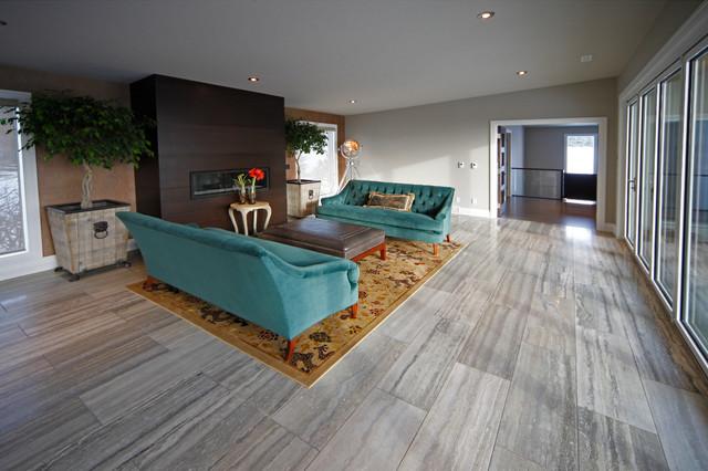 Bearspaw Renovation modern-living-room