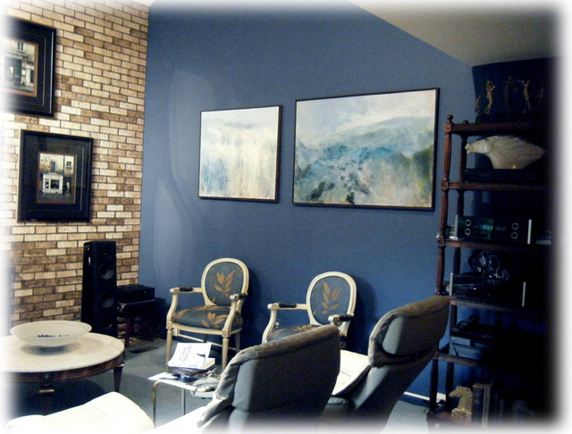 Http Www Houzz Com Photos 912955 Beautiful Blue Living Room For Audiophile Traditional Living Room Los Angeles