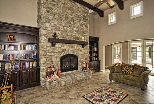What Is The Name Of The Color Of Stone Veneer On Fireplace