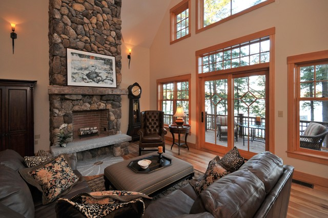 Beautiful lake house traditional living room boston for Beautiful traditional living rooms