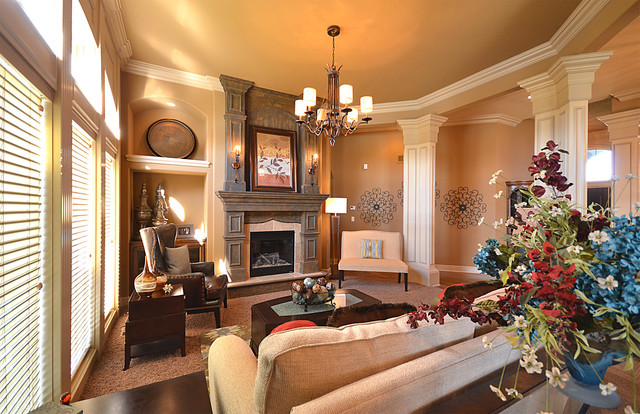 Beautiful living room traditional living room kansas for Beautiful traditional living rooms