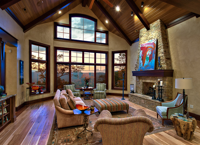 Beautiful Mountain Residence Traditional Living Room Other Metro By G