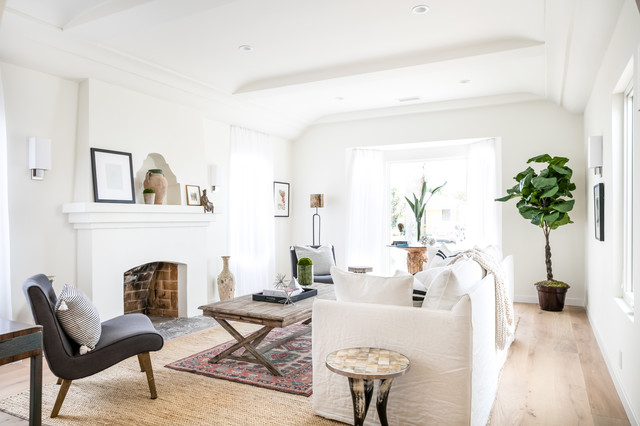 Beautiful transitional Los Angeles Remodel transitional-living-room