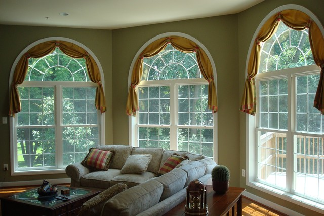 Beautiful Window Treatments contemporary living room