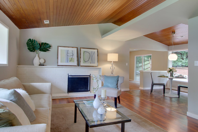 Beautiful wood ceiling - Modern - Living Room - Seattle ...