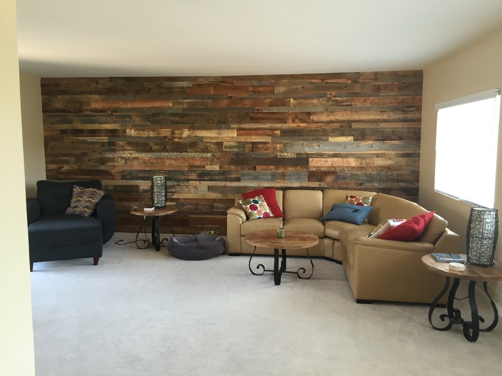 Beautiful Wood Walls Living Room Boise By Reclaimed Lumber Products
