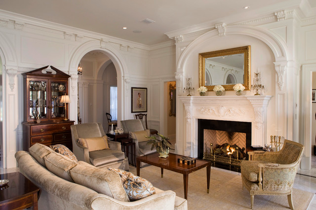 Beaux Arts Classic Traditional Living Room Jacksonville By Morales Construction Co Inc