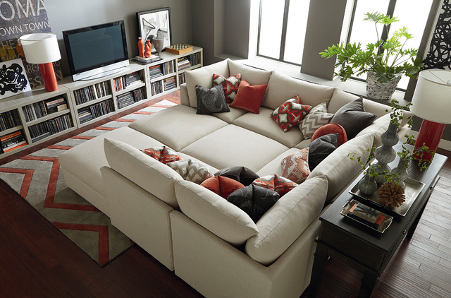 Beckham Pit Sectional By Bassett Furniture Contemporary Living