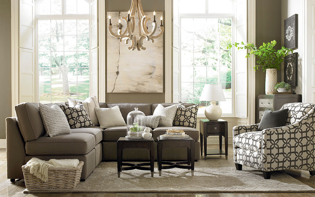 Beckie L Shaped Sectional By Bassett Furniture Contemporary Living Room Raleigh By