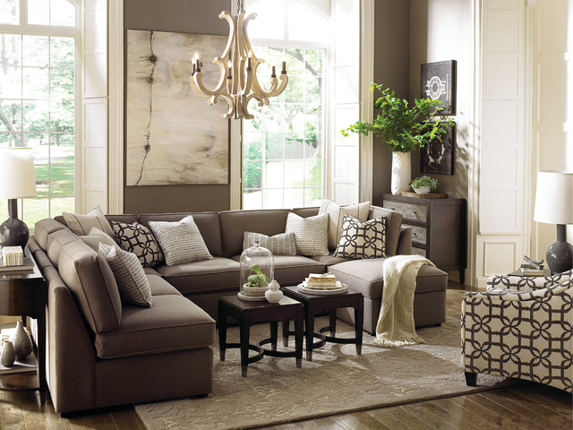 Beckie u shaped sectional by bassett furniture for Bassett living room u shaped sectional