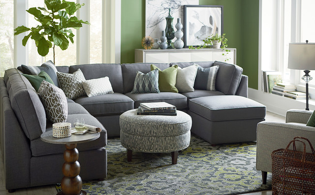 Beckie u shaped sectional by bassett furniture for C shaped living room