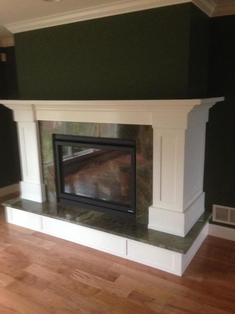 Bednar Custom Fireplace contemporary-living-room