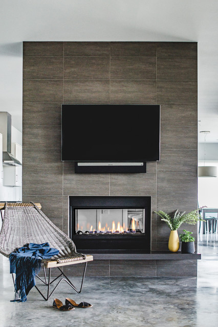 Bee Cave New Build - Contemporary - Living Room - Austin - by Laura Burton Interiors
