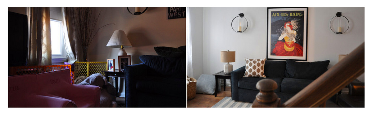 Before and after: family room