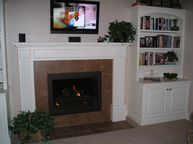 Before And After Fireplace Remodel Traditional Living