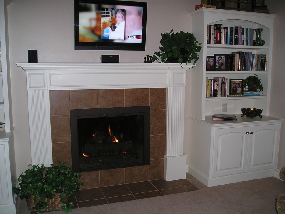 Before And After Fireplace Remodel Traditional Living Room