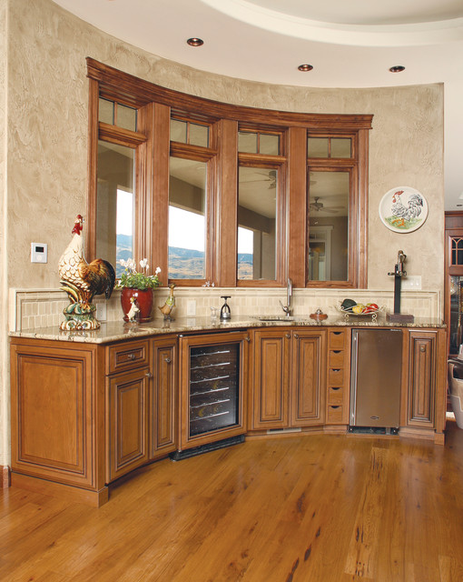 Behrens Wet Bar traditional-living-room