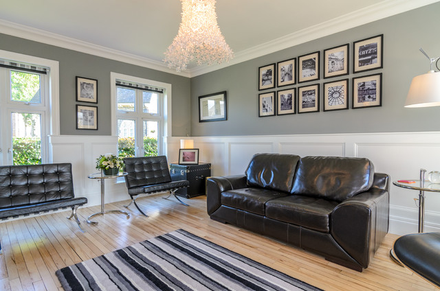 Living Room Decorating Ideas With Dado Rail belfast homes for sale - eclectic - living room - belfast -