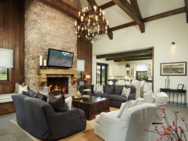 Belgian chic cabin rustic living room other metro by giana allen design llc - Rustic chic living room ...