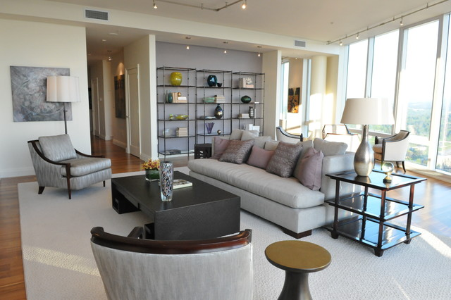 Bellevue Towers Barbara Barry Inspired Penthouse Contemporary Living Room