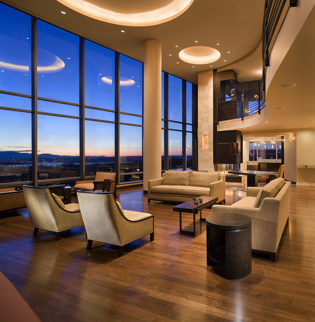 Bellvue Residence contemporary-living-room