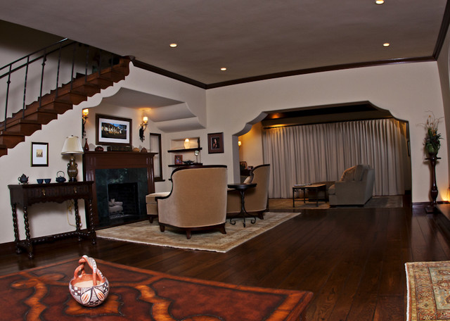 Belmont Heights Spanish Colonial Remodel - Traditional - Living Room ...