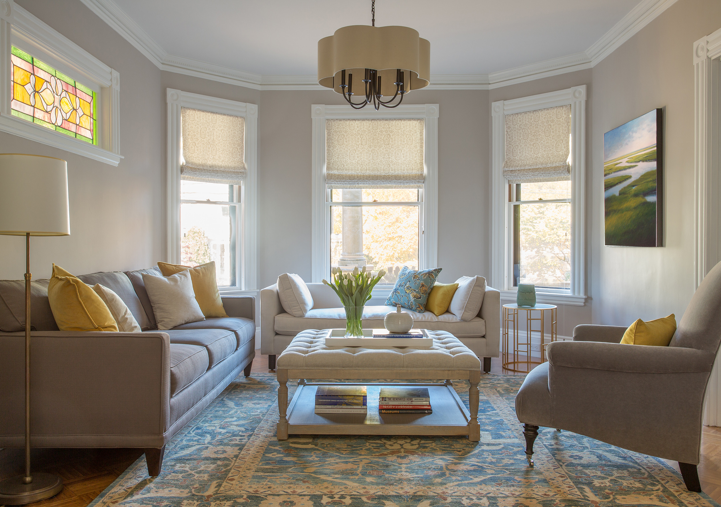 75 Beautiful Victorian Living Room With Gray Walls Pictures Ideas March 2021 Houzz