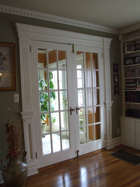 Belvidiere french door trim westfield nj traditional for Living room 4 doors