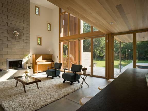Berg Design Architects : old stone highway modern-living-room