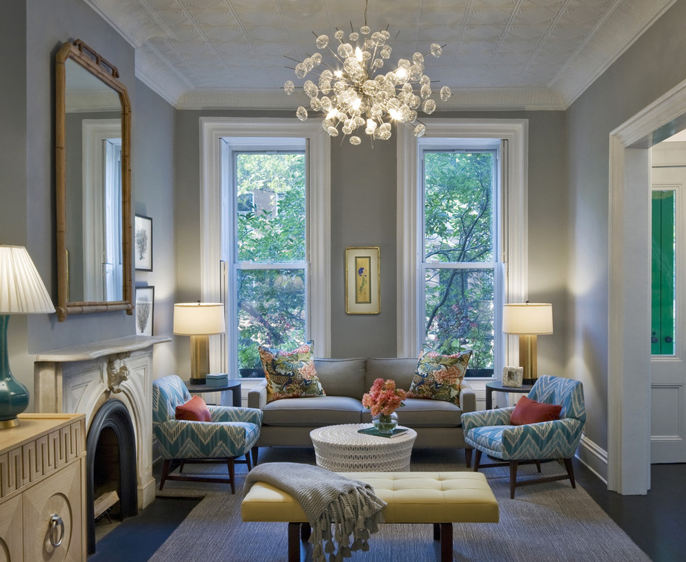 Bergen Street Residence Transitional Living Room New York By Cwb Architects