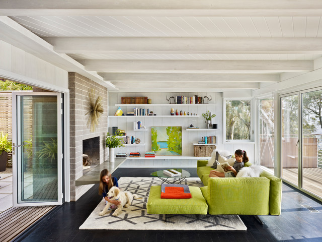 Berkeley Hills House midcentury-living-room