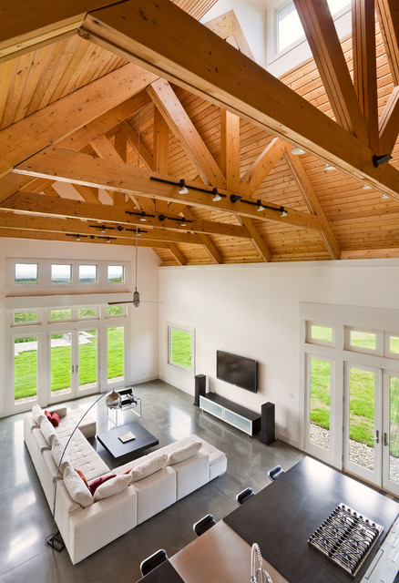 Berkshire Country House, Upstate New York contemporary-living-room