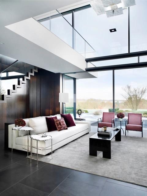 Berkshire Interior Design Contemporary Living Room London by