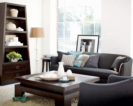 Bernhardt (Vendors) - Bernhardt Furniture: Pelham Sofa, Mercer Coffee Table, Side Table and Bookcase