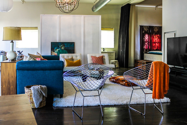bertoia diamond chairs peacock blue sofa orange and teal color scheme. Black Bedroom Furniture Sets. Home Design Ideas