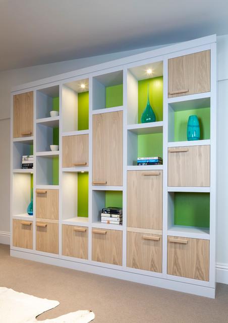 Bespoke storage solutions contemporary living room for Storage solutions living room