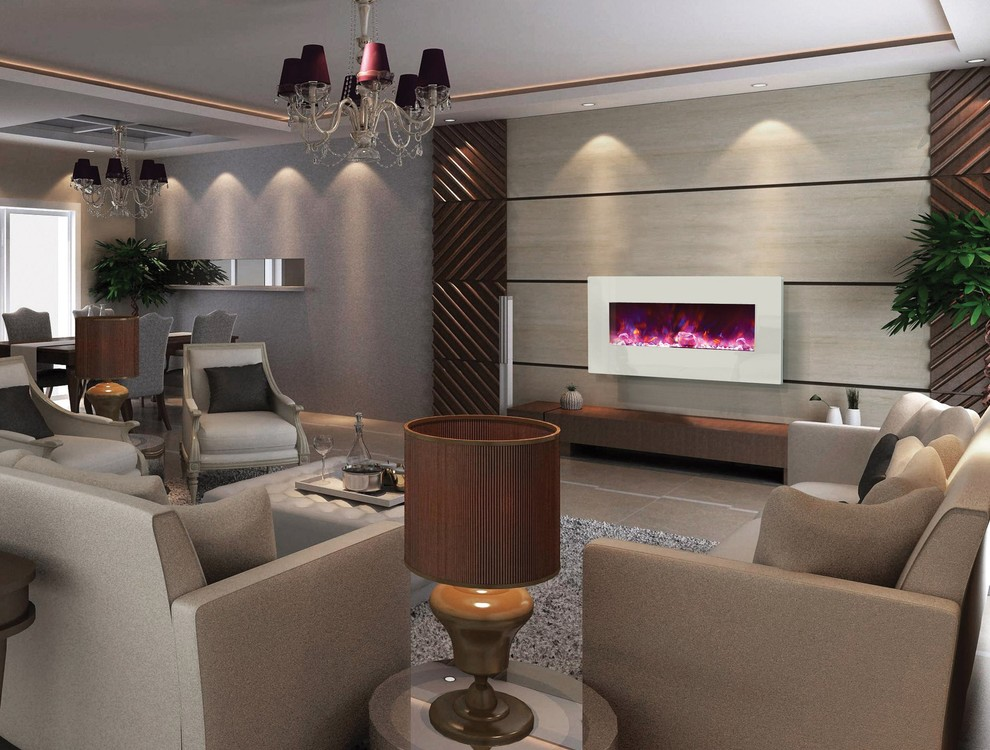 Best Wall Mount Electric Fireplace Ideas in Living Room ...