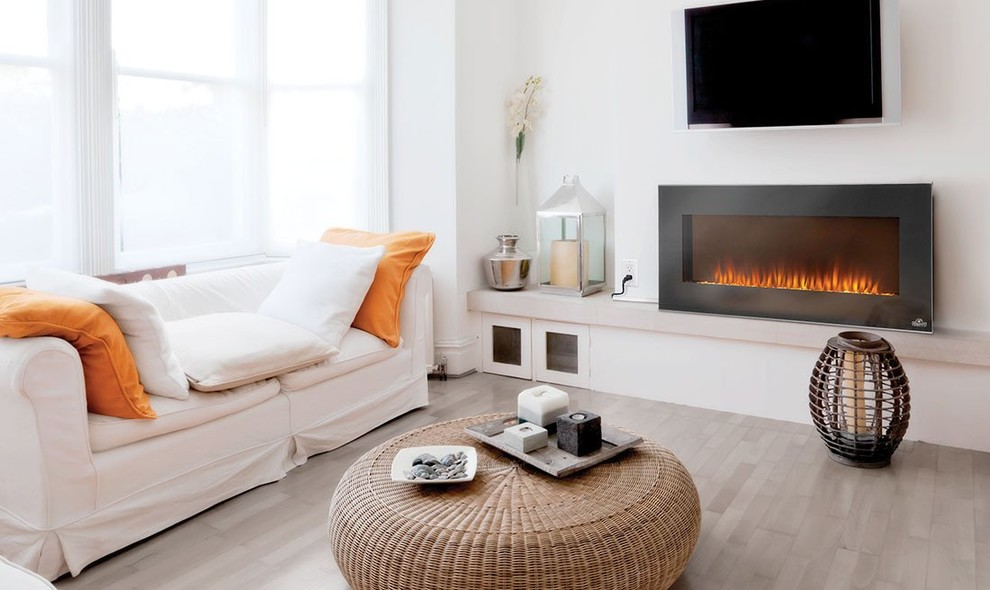 Best Wall Mount Electric Fireplace Ideas In Living Room Contemporary Living Room New York By Modern Blaze