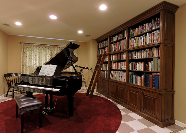 Bethesda Renovation Piano Room And Library
